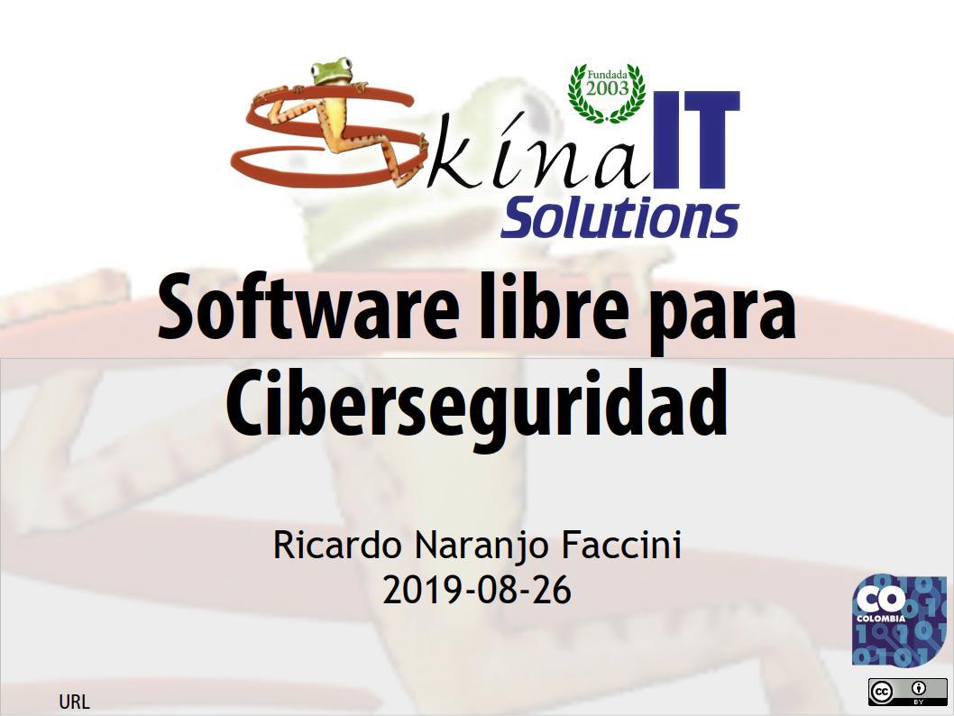 Software libre para ciberseguridad