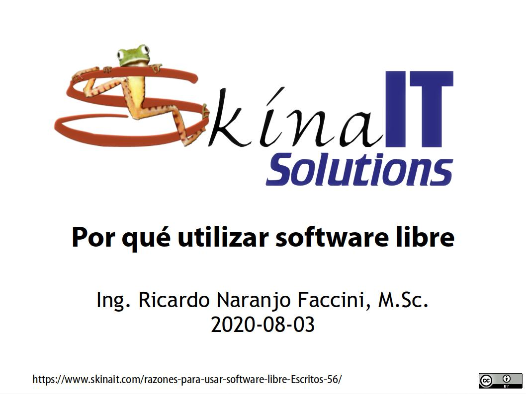 Razones para usar software libre