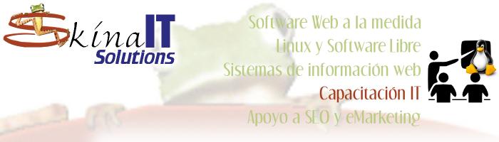 Cursos de Linux y Software libre; programación PHP, Python, XML y WebServices; openOffice y eMarketing