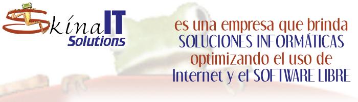 Skina IT Solutions es una empresa que brinda soluciones informáticas optimizando el uso de software libre